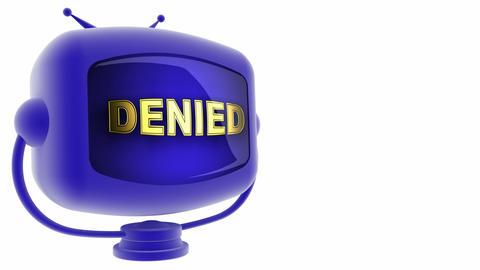 tv denied blue Animation