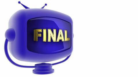tv final blue Stock Video Footage