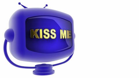 tv kiss me blue Animation