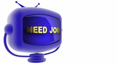 tv need job blue Stock Video Footage