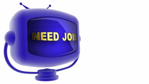 tv need job blue Animation