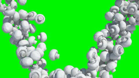 tumbling mushrooms Stock Video Footage