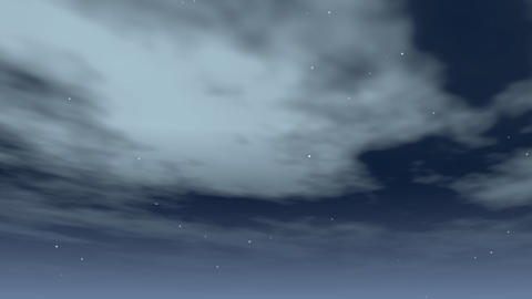 clouds swirling at night Animation
