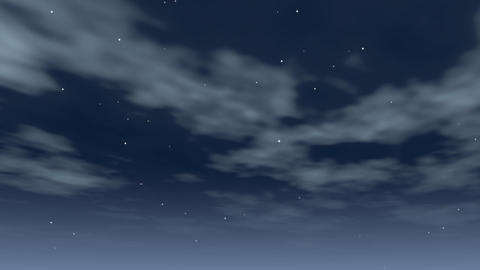 clouds swirling at night Stock Video Footage