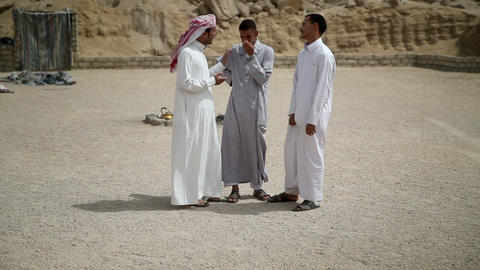Three arabic looking people talking Footage