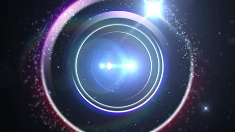Opening intro Flash light flare A 4 blue 4k CG動画