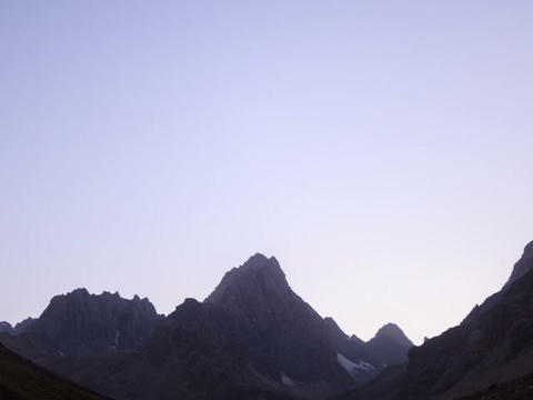 Moonlit night in the mountains. Time Lapse. Pamir. Footage