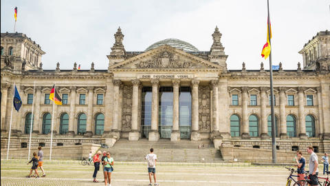 4K Reichstag Building - Berlin 2014 - DSLR Hyper L stock footage