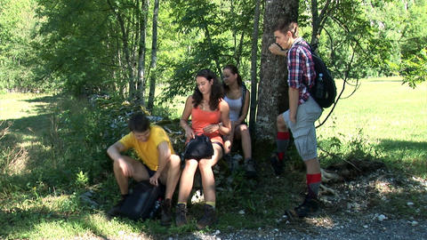 Couples decide to continue the hiking trip Footage
