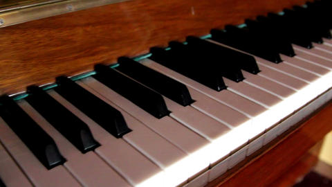 Set of black and white piano keys Footage