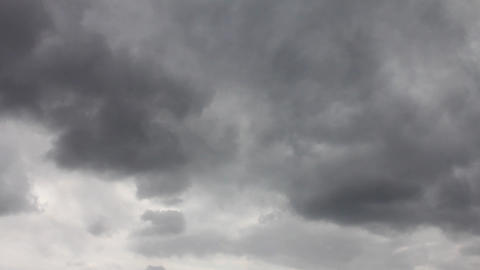 storm clouds swirling on the sky during day Stock Video Footage