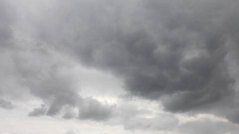 storm clouds swirling on the sky during day Footage