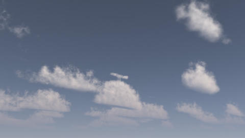 vue 3d cloud sky timelapse 1 Stock Video Footage