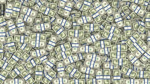tumbling bills Stock Video Footage