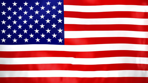 Seamless loop waving USA flag Stock Video Footage