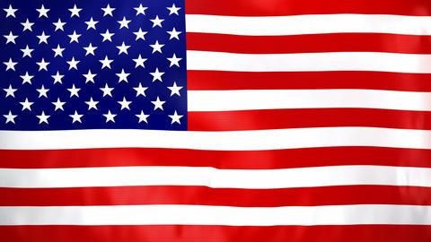Seamless loop waving USA flag Animation
