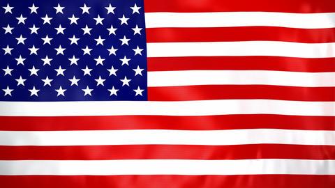 Seamless loop waving USA flag Stock Video Footage