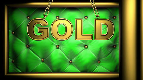 gold green Stock Video Footage