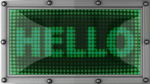 blinking lights(hello) Stock Video Footage