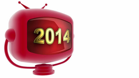 tv 2014 red Stock Video Footage