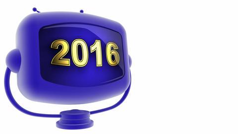 tv 2016 blue Stock Video Footage