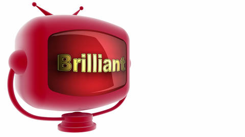 tv brilliant red Stock Video Footage