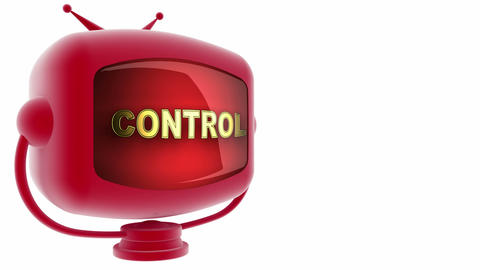 tv control red Stock Video Footage