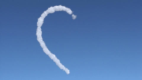 cloud heart Stock Video Footage