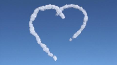 cloud heart Stock Video Footage