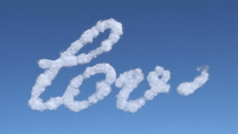 cloud love Stock Video Footage
