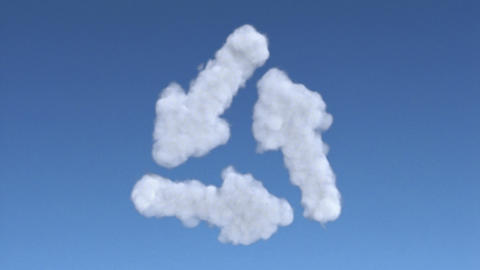 cloud recycle Stock Video Footage