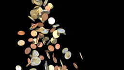 euro coin faucet Stock Video Footage