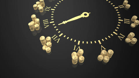 gold coin watch Stock Video Footage