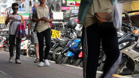 street in thailand Stock Video Footage