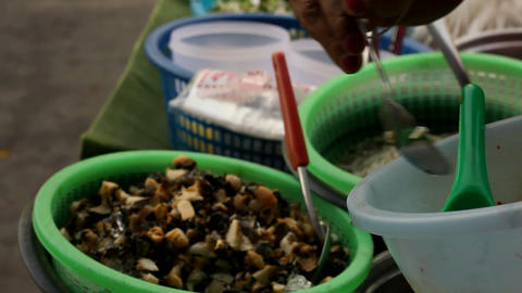 thailand roadside vendor Stock Video Footage