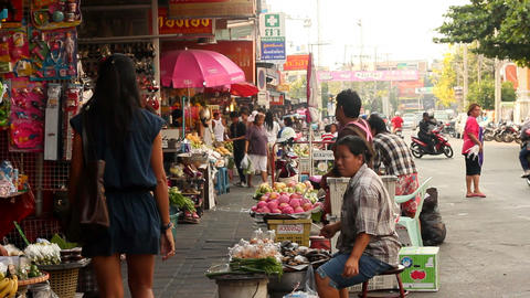 thailand market Footage