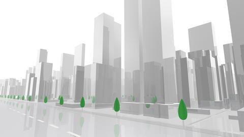 City Building AL03W HD Animation