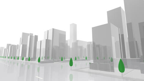 City Building AL03W HD Stock Video Footage
