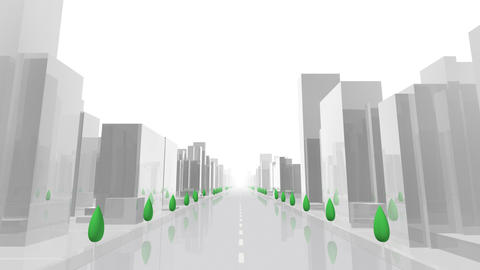 City Building AL05W HD Stock Video Footage