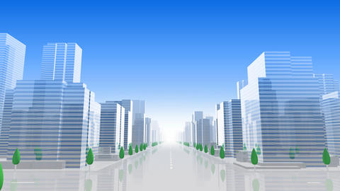 City Building B01L HD Stock Video Footage