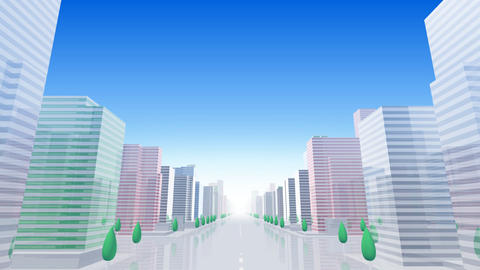 City Building BCL05B HD Stock Video Footage