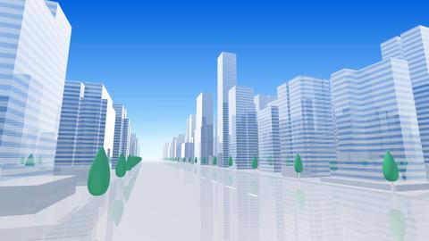 City Building BL06B HD Stock Video Footage