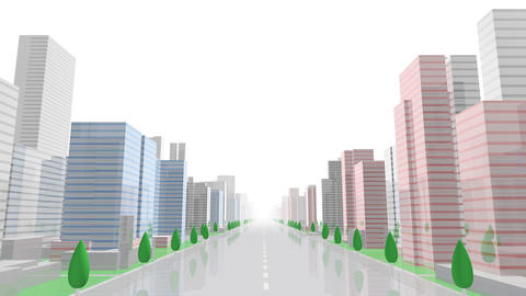 City Building GC01W HD Stock Video Footage