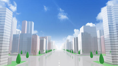 City Building GCL01B HD Animation