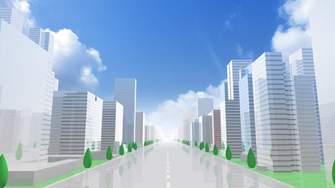 City Building GCL01B HD Stock Video Footage