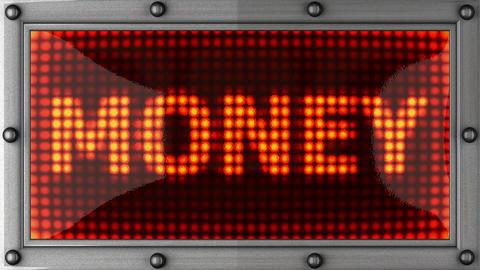 blinking lights(money) Stock Video Footage