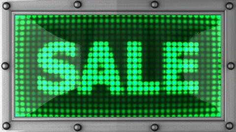 blinking lights(sale) Stock Video Footage