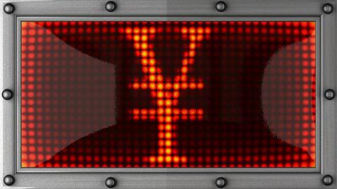 blinking lights (yen) Stock Video Footage