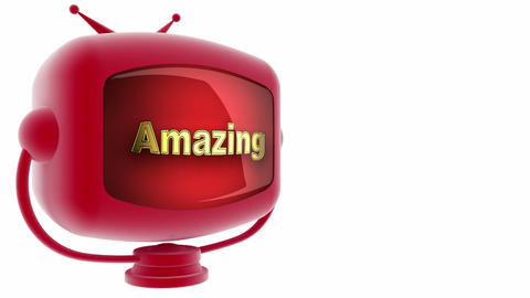 tv amazing red Stock Video Footage
