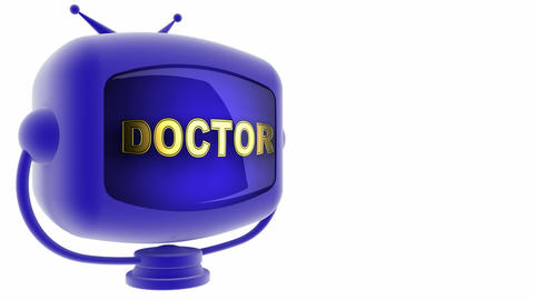 tv doctor blue Stock Video Footage